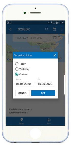 App-instellen-periode-voor-route-iphone